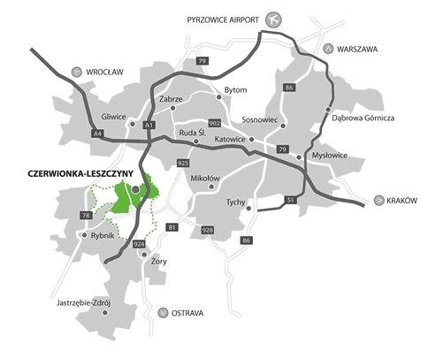 Lokalizacja i komunikacja Czerwionka-Leszczyny