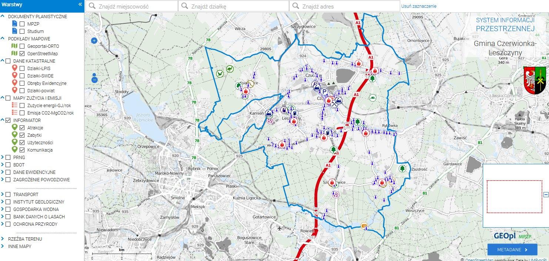portal Mapowy Czerwionki-Leszczyny