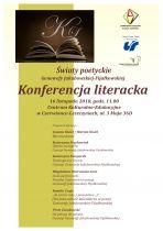 """Konferencja literacka """"Światy poetyckie Genowefy Jakubowskiej-Fijałkowskiej"""""""