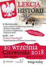 Lekcja historii i Festyn niepodległościowy na 100-lecie odzyskania niepodległości