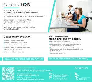 """""""GraduatON"""" - projekt Międzynarodowej Fundacji """"Reaxum"""""""